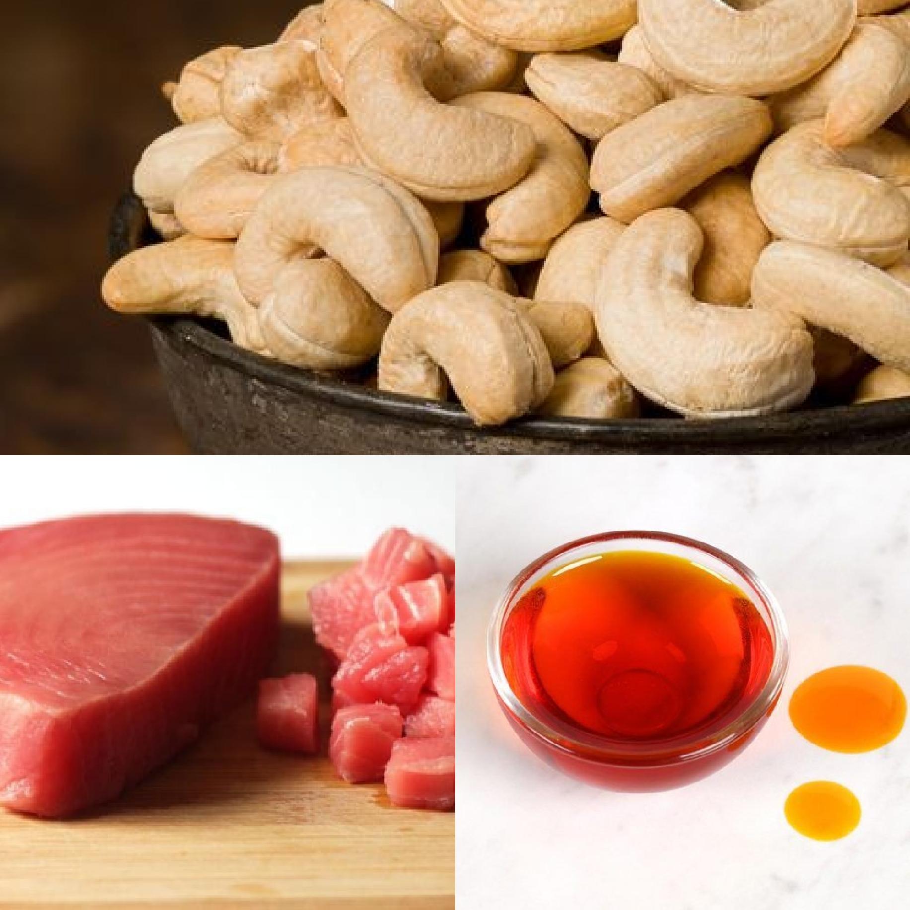 Tuna, cashew and plan oil