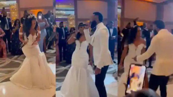 Watch How This Bride Confidently Wowed Her Hubby During Wedding Reception With Her Rap Skills