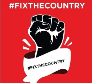 #FixtheCountry Protestors March