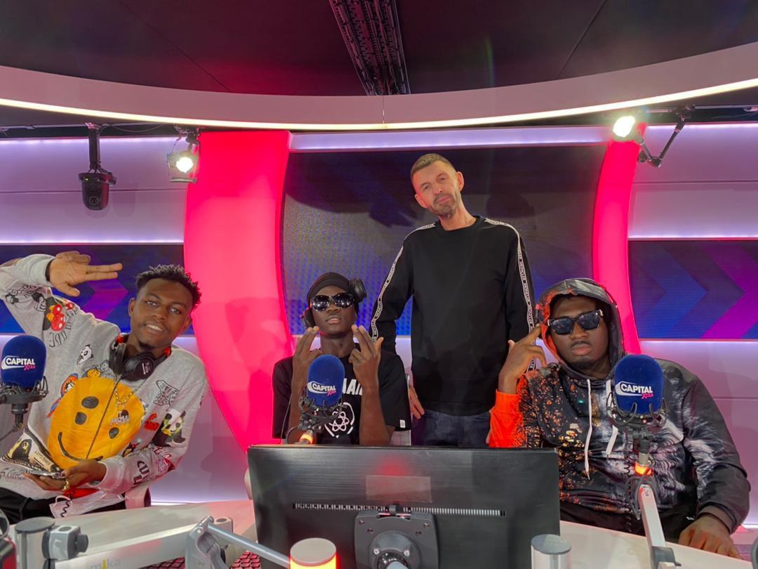 'Yaw Tog And Kweku Flick Went There To Disgrace Ghana But Amerado Saving Them' - Twitter Users React To Tog, Flick And Amerado Freestyle At Tim Westwood Studio