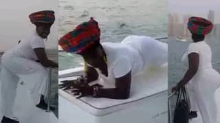 Akumaa Mama Zimbi Leaves Men Salivating As She Whines Her Waist On A Boat [Video]