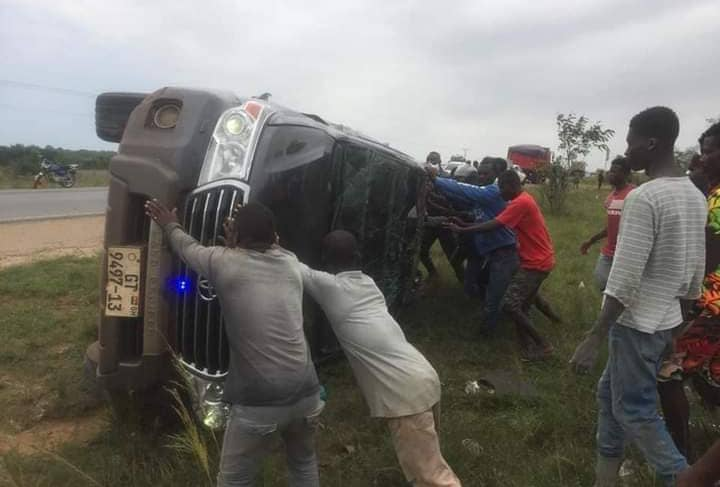 MP Escapes Death After Vehicle Somersaults Twice [Photos]