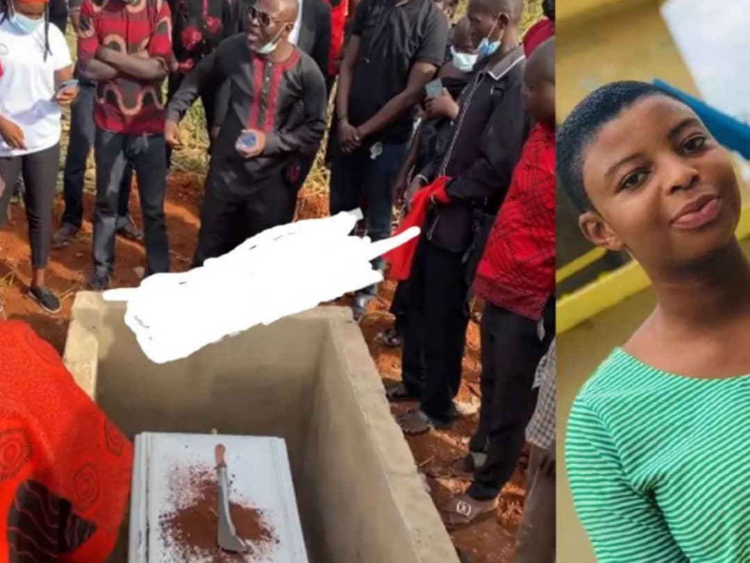 Leticia Pinamang: 14-year-old JHS Student's Family Buries Her With Cutlass To Revenge Her Death [Watch]
