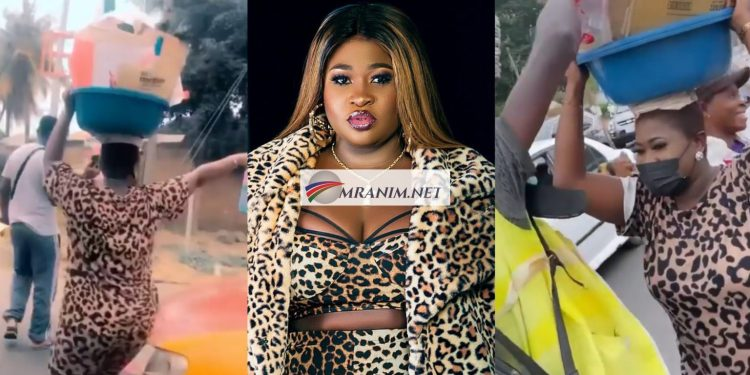 Sister Afia Dumps Music To Sell Water On Street (Video)