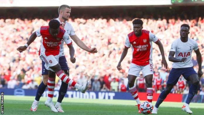 Partey Glitters As Arsenal Dismantle Uninspired Tottenham In Derby Game