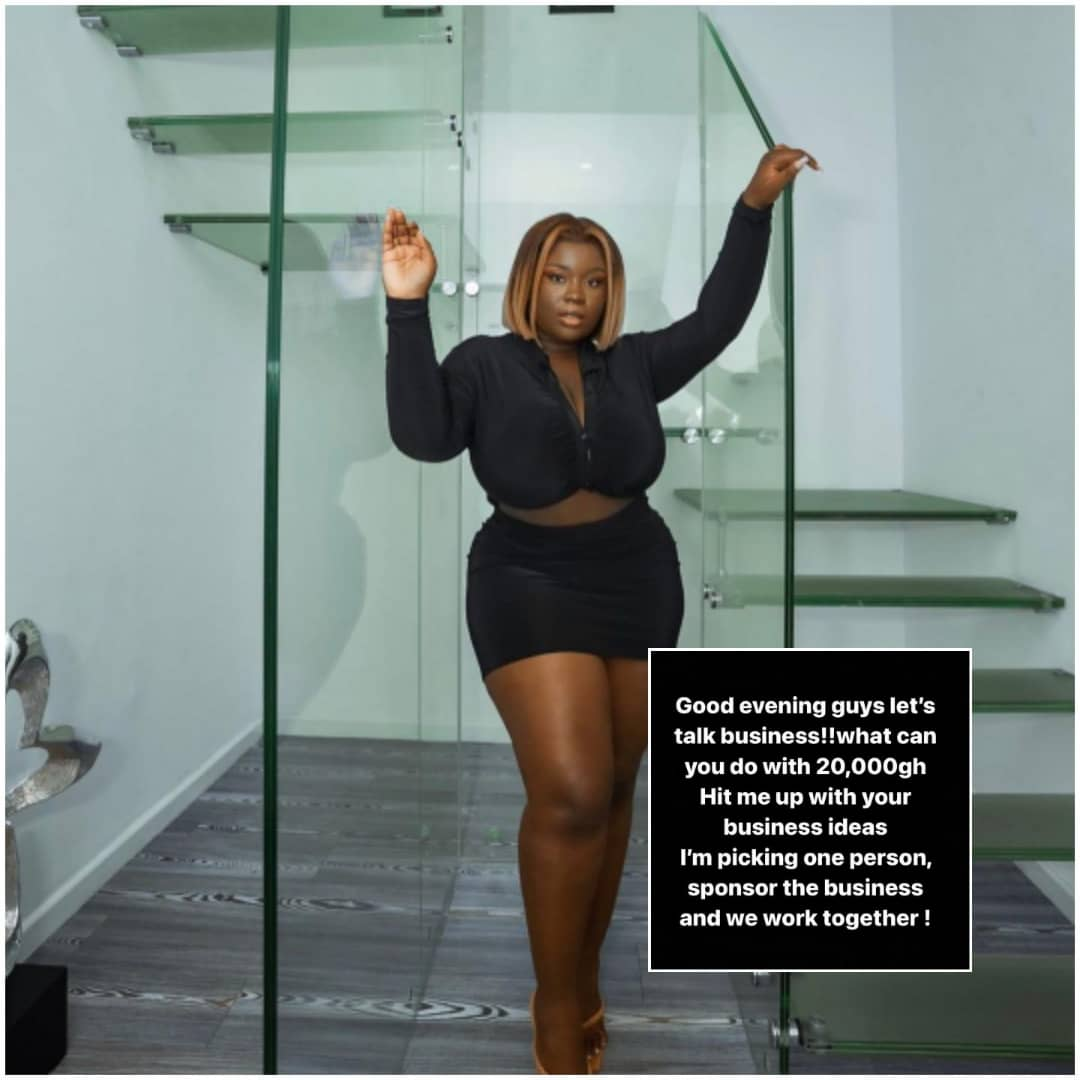 Doing The Work Of The Lord: Maame Serwaa Donates GH20,00 To A Fan To Start Business With