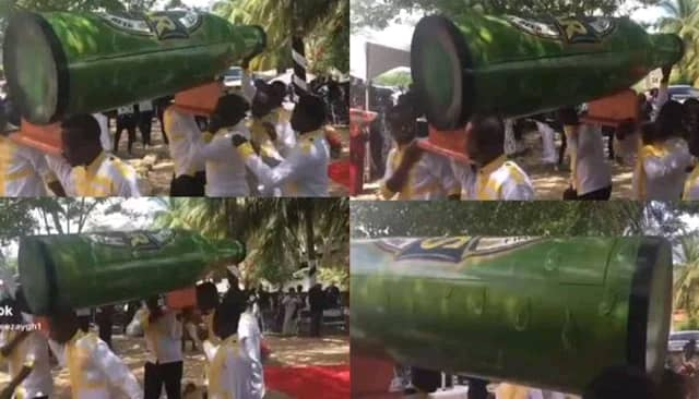Man Buried In Star Beer Designed Coffin Video Goes Viral; Netizens React